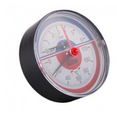 Термоманометр Icma оксиальный  1/2 (10 bar) №259 с запорным клапаном Б