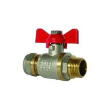 Кран шаровый для металлопластиковой трубы 20 х 1/2 НР