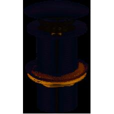 Водослив для умывальника Solomon HG15-03B Click-Clack металл без перелива 09973  Бх