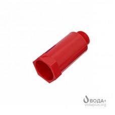 Заглушка-Пробка с резьбой 1/2 Красная (длинная) ASG    Бх