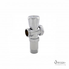 """Кран вентильний для пральної машини SELBA 3/4""""х3/4""""х3/4"""" з подовжувачем А7250 КБ Бх"""